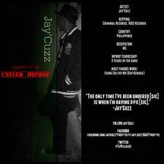 Jay'Cuzz Underground Hiphop, Criminal Record, Jay, Hip Hop, Artists, Hiphop, Artist