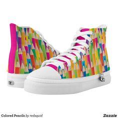 Colored Pencils Printed Shoes Custom Zipz. #zapatillas #shoes