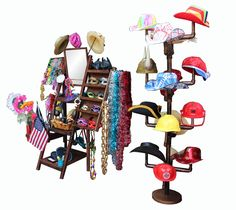Our free standard photo booth prop rack and hat stand.