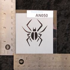Spider Stencil 2-3/4 x 3 7 mil  AN050 by MonsterWurkz on Etsy