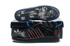 Superstar II Mens Adidas de vânzare Star Wars Pantofi Negru Roșu vânzare fierbinte A950