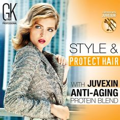 Give your hairs Style and Shine with GKhair products fortified with Juvexin.  #GKhair #Juvexin #Hairstyle #Modernsalon #Hair #beauty