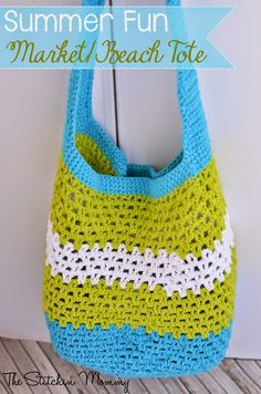 vrolijke tas haken - fun crochet tote - Bees and Appletrees (BLOG)