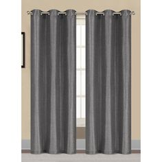 Window Elements Willow Textured Woven 84-inch Grommet Curtain Panel Pair -