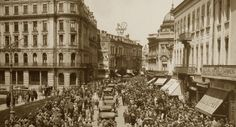 """Bucharest photos from the first decades of the century - mostly from the interwar period (between the two World Wars). ♦ The end of """"Little Paris"""" (click photo) ♦ Old Pictures, Old Photos, Military Dictatorship, Little Paris, Bucharest Romania, Old Maps, Click Photo, First World, Rome"""