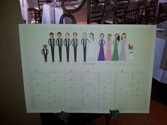 Love this wedding seating chart! The top table is fantastic!