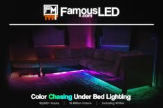 Located in Wixom, Michigan. Man Cave Led Lighting, Under Bed Lighting, Led Lighting Solutions, Bed Lights, Michigan