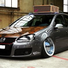 this car could give so much more than this owner will allow it. ridiculous wheel set up.
