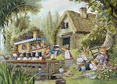 """The Duchess of Foxwood by Brian Paterson. This illustration featured in """"The Foxwood Regatta"""" by Brian and Cynthia Paterson."""