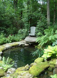 Sweet Little Backyard Pond Area