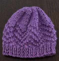 beanies were knitted using 3.25mm needles and 4 ply 50% cotton  50% acrylic wool and therefore the pattern and overall sizing reflects. different sized needles result in a slight difference in overall size.beanie when lying flat (completed and sewn) is approx 9.5cm wide at the base