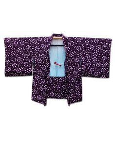 'Sea of Violet' Shibori (tie dying) haori jacket with a fantastic floral motif