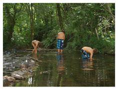 camping moulin de chaules. Met klein zwembadje en beekje om in te pootjebaden.