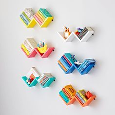 Shop Zigzag Wall Shelf. Our Zigzag Wall Shelves are a great way to store items, while also adding a pop of color to any room.