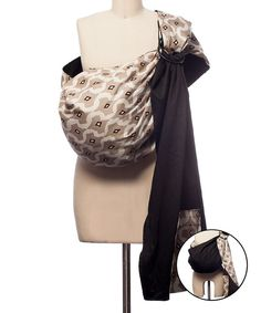 45156464e23 Look at this Rockin  Baby Brown Ground Beneath Her Feet Reversible Sling  Baby Wrap Carrier