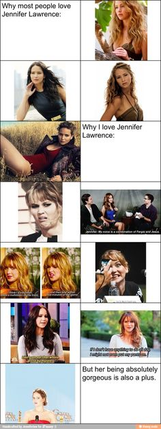 Reasons to love Jennifer Lawrence / iFunny :)