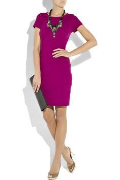 diane von furstenberg trapp paneled stretch-jersey dress love the silhouette, love the color