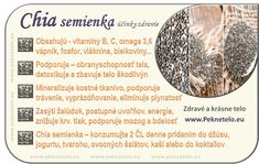 chia semienka na konci rcp. Healthy Fruits, Weight Loss Smoothies, Fruit Recipes, Natural Medicine, Wellness, Natural Health, Life Is Good, Detox, Healthy Lifestyle
