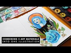 Hi guys! I'm back and happy to share a new video with you guys. This week i am playing around with and combining as many as i can into one portr. Speed Paint, Watercolor, Make It Yourself, Guys, Drawings, Illustration, Happy, Youtube, Painting