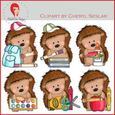 NEW Pepper the Hedgehog Goes to School Clipart by by marlodeedesigns, $1.25 Forest Classroom, Owl Classroom, Classroom Design, Classroom Themes, Projects For Kids, Diy For Kids, Hedgehog Illustration, Hedgehog Craft, School Displays