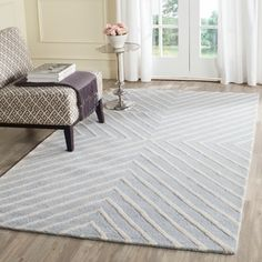Safavieh Handmade Moroccan Cambridge Light Blue/ Ivory Wool Rug (11' x 15') | Overstock.com Shopping - The Best Deals on Oversized Rugs
