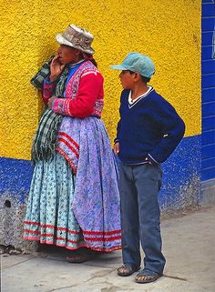 Wonderful colors in a street of Chivay in Arequipa, Perù.