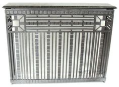 Rench Art Deco Iron Radiator Cover Or Console Table Circa Late 1920u0027s,  France, French