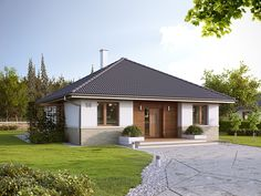 Elka 2 (85,95 m2) to nieduży projekt domu parterowego. Pełna prezentacja…