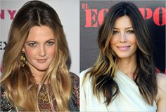 Ombre hair. I like Jessica's better than Drew's. :)