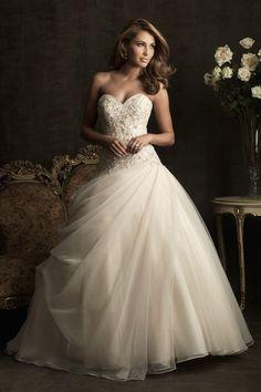 2013 vestidos de boda del vestido de bola cariño barrer / cepillo cola de organza USD 289.99 VEPKNSJKB8 - Vestido2015.com