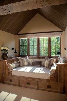 Window seat 25 cozy interior design and decor ideas for reading nooks cozy nook, cozy Sweet Home, Cozy Nook, Cozy Corner, Corner Bench, Cozy Den, Home And Deco, Home Fashion, My Dream Home, Dream Life