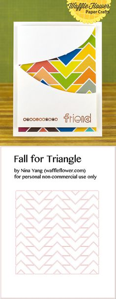 Free silhouette studio cut file for triangles or chevrons   from Nina Yang #Silhouette #CutFile