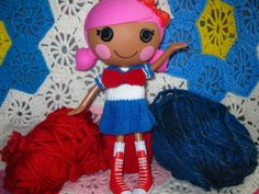 Lalaloopsy Doll Knitted Japanese Schoolgirl Dress Pattern PDF Email Download   4.50  Knitted in the round with worsted weight yarn, this pattern is an easy, quick, and fun way to use up those scraps.  This listing is for a PDF pattern for full size Lalaloopsy dolls that will be emailed to you. If you would prefer the pattern in a plain text file in addition to the PDF just let me know.