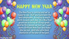 New Year Wishes for Employees 2017