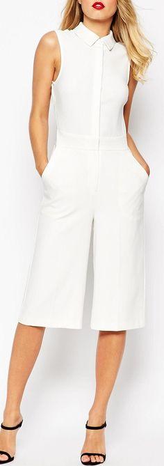 culotte collared jumpsuit