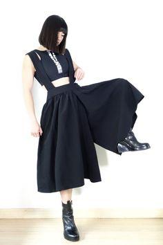 Comme des Garçons BLACK AD2014 Suspender Trousers Sz S