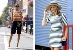 Yes we know: this trend is not making its debut. But the reason it's been around for so long is that some stripes on your outfit always make a nice… 2015 Trends, Shirt Dress, T Shirt, Stripes, Touch, Nice, Day, How To Make, Outfits