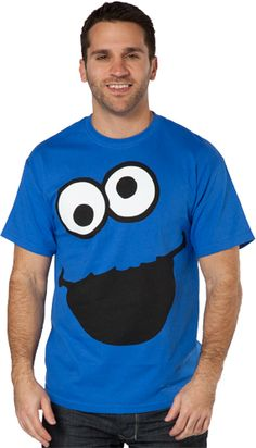 e4bab1895 This Cookie Monster Eyes T-Shirt features an oversized image of the Sesame  Street character's googly eyes and mouth.