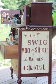 Bliss Ranch: Old Dresser Turned Portable Bar