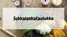Sukkalankataulukko eli millä langalla voi korvata ohjeessa mainitun la – Neulovilla Crochet Socks, Knit Crochet, Crochet Chart, Knitting Stitches, Handicraft, Mittens, Projects To Try, Sewing, Crafts