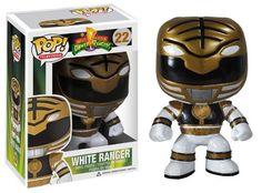 FUNKO POP Television: Power Rangers White Ranger Vinyl Figure: Amazon.co.uk: Toys & Games