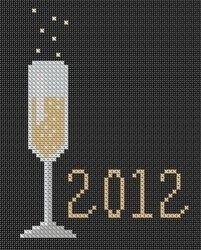Cross Stitch Charts Champagne to Celebrate – Free Cross-Stitch - From DoveStitch, a free chart to celebrate the New Year that includes a bit of the bubbly. Free Cross Stitch Charts, Cross Stitch Cards, Bead Loom Patterns, Perler Patterns, Cat Cross Stitches, Cross Stitching, Learn Embroidery, Cross Stitch Embroidery, Cross Stitch Designs