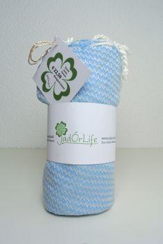 Retro Zig Zag Hamam Towel / Organic Cotton / JadÓrLife.nl