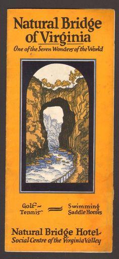 1927 Vacation Brochure Natural Bridge of Virginia Hotel  Golf Tennis Swimming