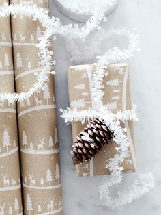 NEW White Stars Micro Tinsel - It's Never Too Early for Christmas - Indoor Living