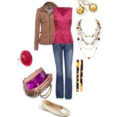 """Pink and brown"" by jossiebristow on Polyvore"
