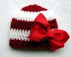 Christmas Baby Hat  Baby Girl Hat  Baby Girl Hats  by SeashoreKidz, $19.95