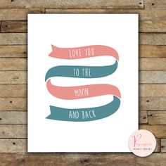 Printable Instantly Wisdom words Ribbon Love by PapergirlPrints, $5.00
