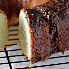 Salted Caramel Bundt Cake - super yummy. Made two adjustments. I didn't have plain Greek yogurt so I used Pomegranate Greek Yogurt (Yoplait). I also made the caramel out of sweetened condensed milk. It was really moist and fantastic.