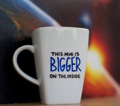 I really need to make a mug like this - it wouldn't be that hard! Could do Sherlock or Harry Potter or something too.